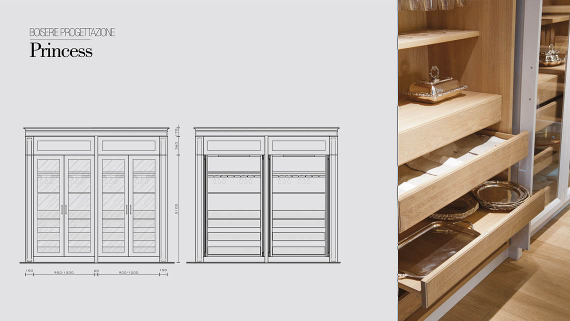 Princess wall panelling for your exclusive style for Boiserie dwg